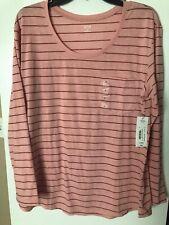 eb3d2b7bbfca Anuncio nuevoNuevo con etiquetas A.n.a. Para mujeres Mangas Largas Camiseta  De Bolsillo, rayas en rosa, talla XL