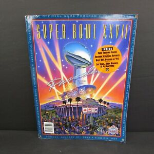 Super Bowl XXVII Official Game Program With Trading Cards