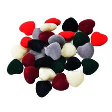 30x Mixed Acrylic Flocking Felt Spacer Beads Heart Beads DIY Jewelry Earring
