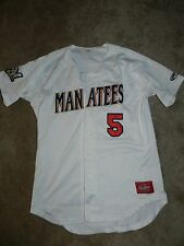 Defunct 2016 Brevard County Manatees Game Used Jersey #5 Brandon Diaz Brewers