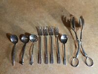 WM ROGERS MFG CO EXTRA PLATE,   SILVERPLATE, (4 FORKS, 4 SPOONS, OTHER) NICE LOT