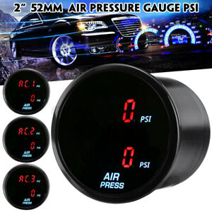 52mm Air Pressure Suspension Gauge PSI Dual Digital Display Meter w/ Sensor