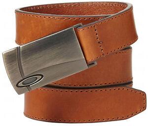 Oakley Women's Solid Leather Golf Belt - Almond Brown