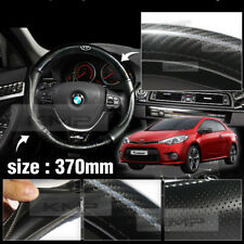 Carbon Steering Wheel Cover Glossy Urethan 370mm for KIA 2014 - 2017 Cerato Koup
