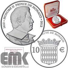 Monaco - 10 Euro 2012 - Honore ll. Fürst von Monaco - Silber PP im Etui