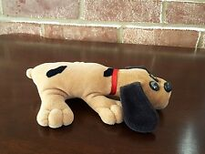 Vintage 80's 00006000  Newborn Pound Puppy tan black spots red collar Tonka