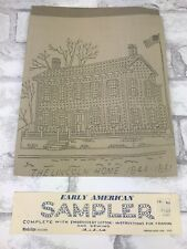 Early American Sampler The Lincoln Home Vintage Cross Stitch Folk Art Unused