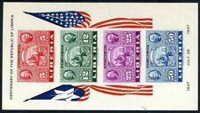 Liberia 1947. Centenary of the Republic. Hojita sin dentar. MNH. **.