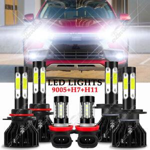 For Mitsubishi OUTLANDER 2014-2020 Combo 6X LED Headlights Kit + Fog Light Bulbs