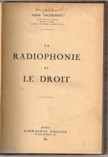 RADIOPHONIE DROIT RADIO WIRELESS BROADCASTING LAW FRENCH 1927