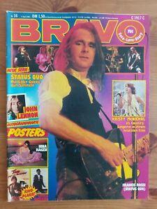 BRAVO 16/09.04.1981,KISS Starschnitt,John Lennon,Nina Hagen,Status Quo,ABBA