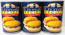 Traditional Cincinnati Recipe Original Chili 15 oz ( 3 Cans )
