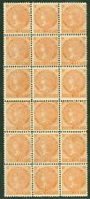 SG 36 Prince Edward Islands 1872. 1c brown orange. Unmounted mint block of 18...