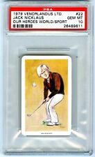 "New listing JACK NICKLAUS~RARE (POP 179) 1979 VENORLANDUS ""PSA-10 GEM-MT"" ROOKIE RC CARD #22"