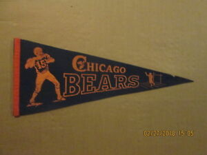 NFL Chicago Bears Vintage Circa 1950's #15 Quarterback Logo Football Pennant