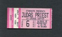 Original 1984 Judas Priest concert ticket stub La Crosse WI Metal Conqueror Tour