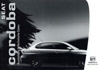Seat Cordoba Ausstattung Technische Daten Prospekt 2004 4/04 D brochure specs