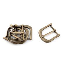 Waist Belt Metal Vintage Style Single Pin Buckle Bronze Tone 1 Inch Width 5pcs