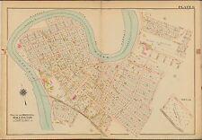 1906 BELLEVILLE TWP NEW JERSEY ESSEX COUNTY GLEN RIDGE CEMETERY P.S 2 ATLAS MAP
