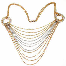Authentic! Trinity de Cartier 18k Multi Color Gold 3.73ct Diamond Necklace