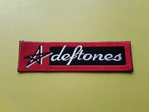 Deftones Patch Embroidered Iron On Or Sew On Badge