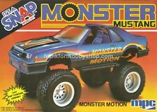 Ertl #6474 1/32 Monster Motion Mustang snap kit Vintage