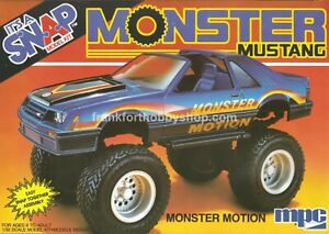 Ertl #6474 1/32 Monster Motion Mustang snap kit Vintage