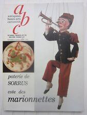 ABC décor N°175 1979 /poterie de Sorrus/marionnettes/faÏences d'Onnaing