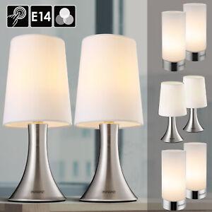Tischlampe Nachttischlampe Tischleuchte 2er Set dimmbar Design Wohnzimmerlampe