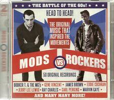 MODS VS ROCKERS 50 ORGINAL RECORDINGS Inc GENE VINCENT, JERRY LEE LEWIS & MORE