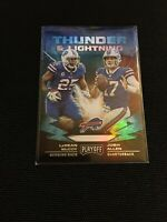 Josh Allen LeSean McCoy 2019 Panini Playoff Thunder Lightning #15 Bills Insert