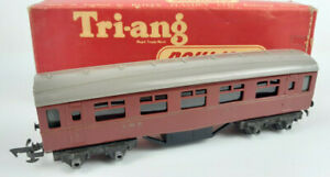 TRIANG R20 LMS 6-INCH COACH EARLY 1953 VERY GOOD CONDITION BOXED OO(WT)