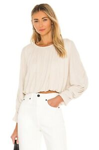 Free People Womens You're The One Top Cream Natural Uk XS 4 - 6