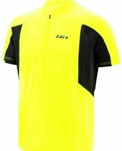 NWT Louis Garneau Connection Relaxed Fit Cycling Jersey S/S SZ Med Yellow (282)