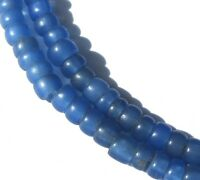 118 RARE TINY AMAZING OLD TRANSLUCENT BLUE VENETIAN ANTIQUE BEADS AFRICAN TRADE