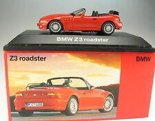 SCHUCO - BMW Z3 Roadster - mit Gepäckträger - rot - Neu in Box - 1:43 - Cabrio