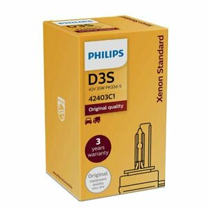 PHILIPS D3S Car Headlight Xenon Standard Vision HID Bulb Lamp 4200K OEM D3C D3R