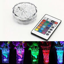 RGB Submersible RGB LED IP68 Waterproof Lights Battery Power  Remote Controller