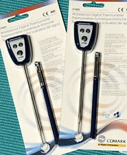 New listing Bid2Win 2 pack Great Bbq New Comark Waterproof Digital Safety Meat Thermometers