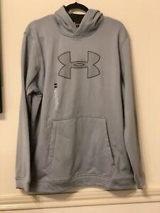 Under Armour Men's UA Performance Fleece Hoodie Pullover Sweat Shirt Gray XL New