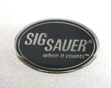 "Sig Sauer ""When it Counts""  Lapel or Hat Pin"