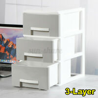 3 Layers Desk Organizer Box Cosmetic Storage Drawers Home Bedside Office  C3