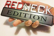 REDNECK EDITION EMBLEM white / GMC car TRUCK logo DECAL SIGN CHROME RED NECK 07.