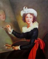 Quality Hand Painted Oil Painting Repro, Louise Elisabeth Self-Portrait, 20x24in