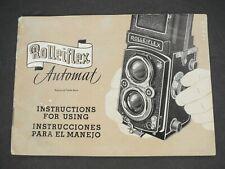 Rollei Rolleiflex Automat 1952 Camera Instruction Book / User Guide / Manual