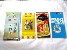 Vintage 4 French Travel Brochures - Pictures and Maps