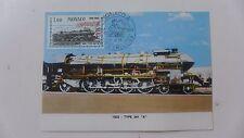 1968 CPA locomotive timbre MONACOjour d'émission SNCF train histoire POSTE
