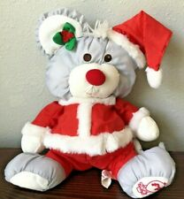 Vintage 1988 Fisher Price Puffalump Gray Christmas Mouse