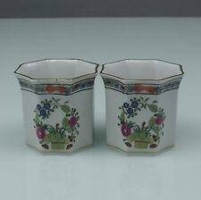 Herend 2x petits pots/cachepot Fleurs du pourtant (170321)