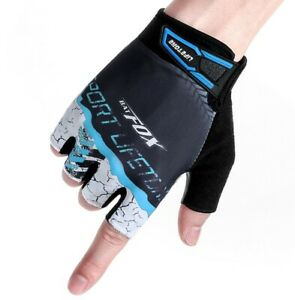 Bike Half Short Finger Gloves Bicycle Cycling Mitts Non-Slip Outdoor Sports Gel